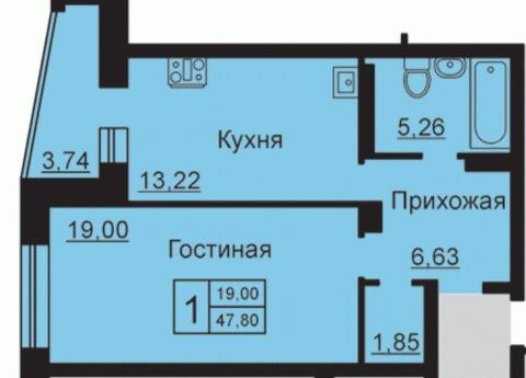 ЖК Советский 1ка 49м2 - Фото 4