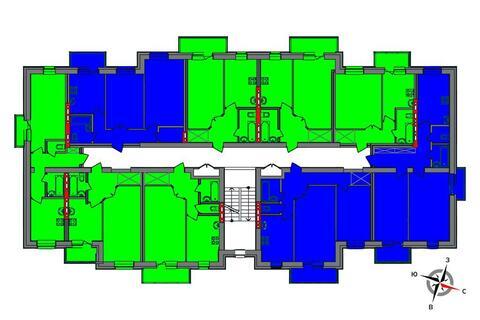 Продажа двухкомнатная квартира 57.20м2 в ЖК Чистые пруды дом 1 - Фото 2