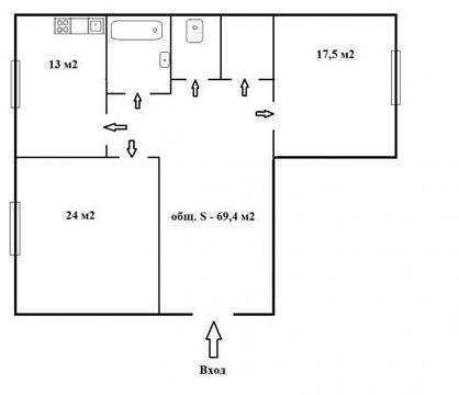 Продается квартира в пос. Кикерино - Фото 3
