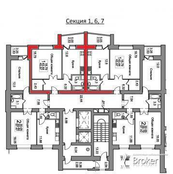 1-а комнатная квартира мкр - н Авиационный, ул. Жуковского д.14\18 - Фото 2