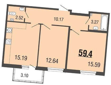 Продам 2к. квартиру. Рябиновая ул. к.4-17, Купить квартиру Мистолово, Всеволожский район по недорогой цене, ID объекта - 319605546 - Фото 1