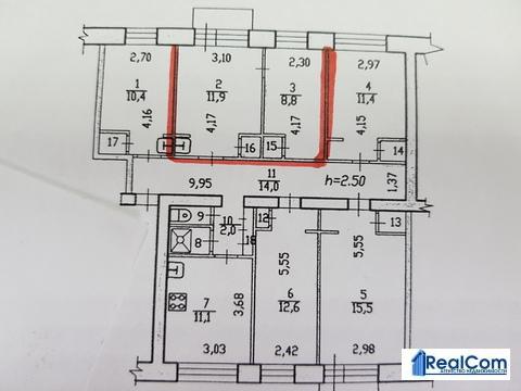 Сдам две комнаты в трёхкомнатной квартиры, ул. Некрасова, 52 - Фото 2