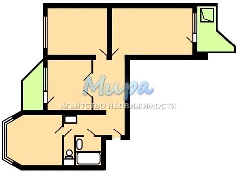 Квартира прекрасной планировки с двумя застекленными лоджиями. Дом П- - Фото 4