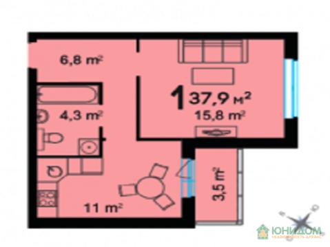 1 комнатная квартира, ул. Федюнинского, ЖК Ожогино - Фото 3