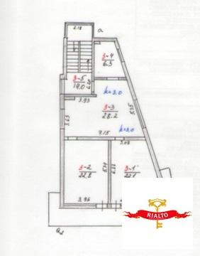 Престижная 2к квартира в Гурзуфе 79,4 кв.м. 85 м. от моря - Фото 3