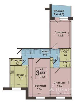 Продажа квартиры, Казань, м. Яшьлек, Ул. Адоратского - Фото 1