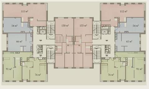 Элитный комплекс апартаментов «Гороховский 12». Апартамент 91,3 км. м - Фото 4