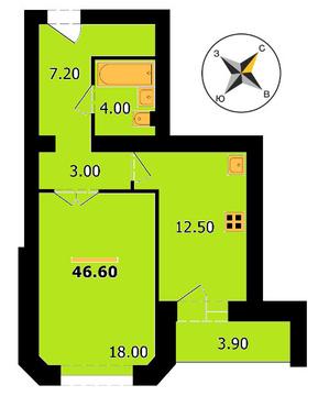 Владимир, Диктора Левитана ул, д.25, 1-комнатная квартира на продажу - Фото 1