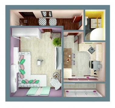 1-комнатная квартира в мкр.Пиганово - Фото 3