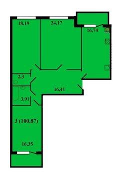 3х-комнатная квартира в новостройке с индивидуальным отоплением - Фото 2