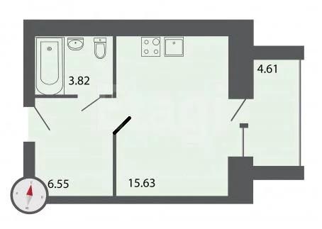 Объявление №53894490: Квартира 1 комн. Владимир, ул. Куйбышева, д. 17,