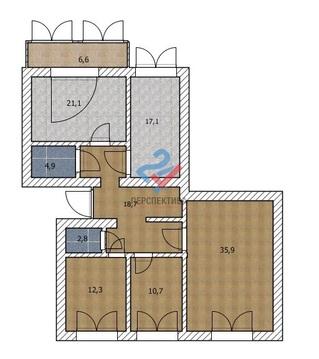 4 ком. квартира по адресу Мингажева, д. 59 - Фото 1