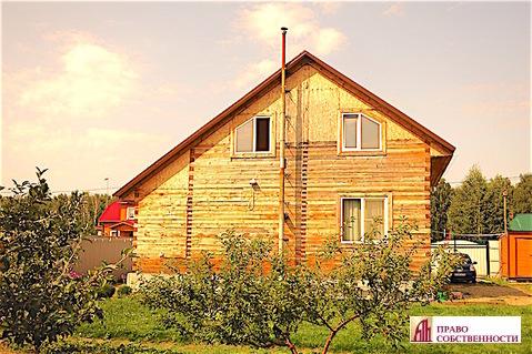 2-этажный дом из бруса на 9 сотках в кп Лукошкино (ж/д ст.Игнатьево) - Фото 1