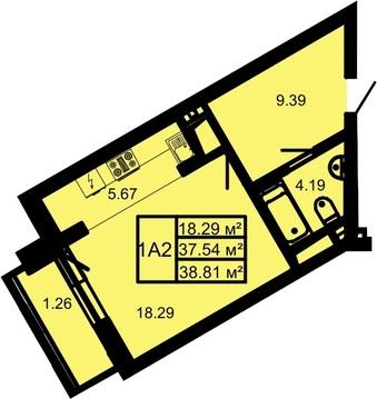 1 комната ЖК манхэтен 11/16 этаж 64квартира - Фото 4