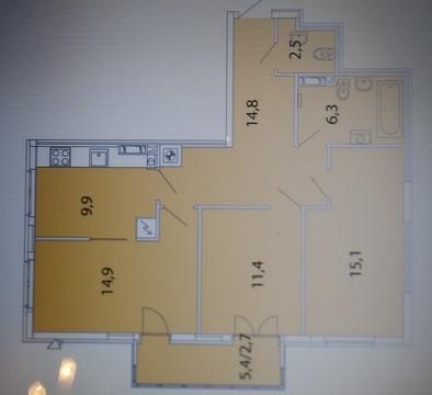 Продам 3-комнатную квартиру п. Б.Исаково ул. Уютная - Фото 1