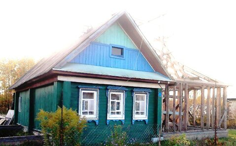 Крепкий бревенчатый дом 41 кв.м на участке 15 соток, Продажа домов и коттеджей Гумнищи, Балахнинский район, ID объекта - 501810039 - Фото 1