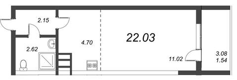 1 318 500 Руб., Продам студию. Воронцовский б-р к.А-Г, Купить квартиру Мурино, Всеволожский район по недорогой цене, ID объекта - 318417870 - Фото 1