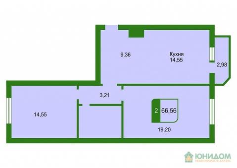 2 комнатная квартира в новом готовом доме, ул. Широтгная - Фото 2