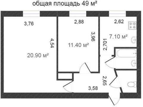 Продажа двухкомнатной квартиры на переулке Кирова, 26 в Калуге, Купить квартиру в Калуге по недорогой цене, ID объекта - 319812402 - Фото 1