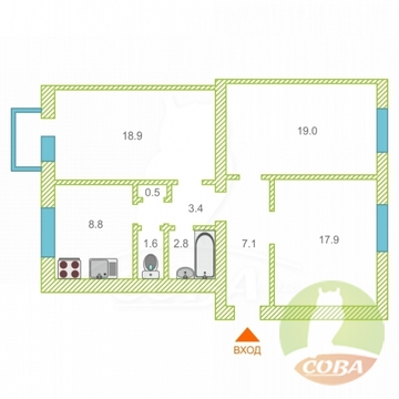 Продажа квартиры, Сочи, Ул. Конституции - Фото 1