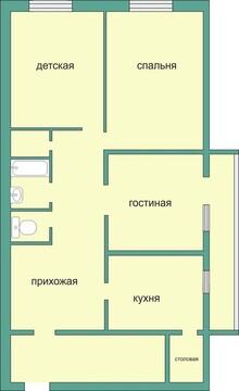 Продажа квартиры, Рязань, Мал. центр, Купить квартиру в Рязани по недорогой цене, ID объекта - 318883654 - Фото 1