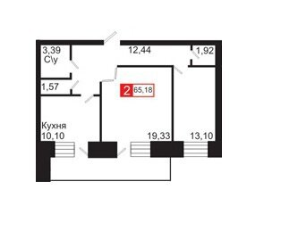Сдам 2-комн ул.Юности д.35, площадью 65 кв.м, на 10 этаже - Фото 1