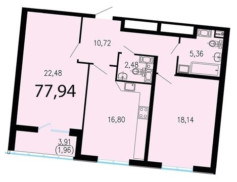 10 327 840 Руб., Продам 2к. квартиру. Жукова ул. к.2.2, Купить квартиру в Санкт-Петербурге по недорогой цене, ID объекта - 318428093 - Фото 1