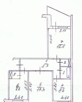 3-х комнатная на Воровского - Фото 2