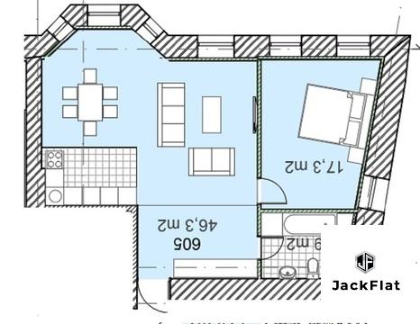 Самая бюджетная двухкомнатная квартира в ЖК Полянка/44 - Фото 4