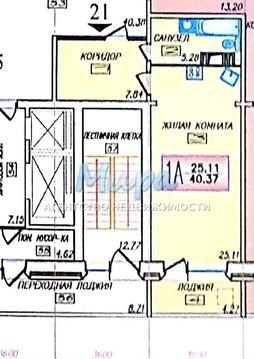 Продается однокомнатная квартира - студия общей площадью 40 кв.м. в г - Фото 2