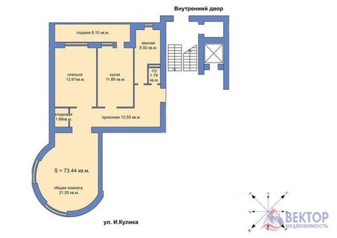 Квартира, город Херсон, Купить квартиру в Херсоне по недорогой цене, ID объекта - 314964326 - Фото 1