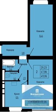 Продаётся двухкомнатная квартира в новом доме в мкр.Юрьевец - Фото 2