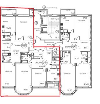 "ЖК""Royal House on Yauza""-213 кв.м, кухня-гостиная и 5 спален,6эт,7 сек - Фото 1"
