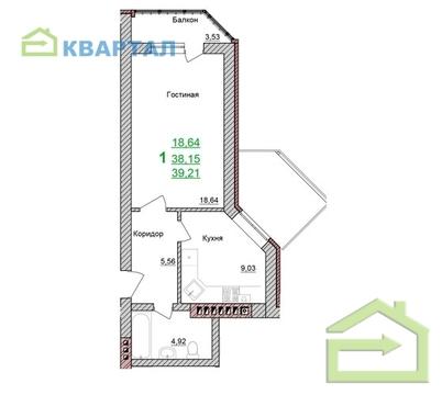 Продажа однокомнатной квартиры Браер Парк Северный - Фото 4