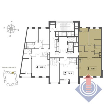 Продажа квартиры, Москва, м. Алексеевская, Ул. Маломосковская - Фото 2