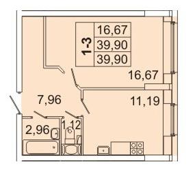 Продам 1к. квартиру. Кондратьевский пр-кт, д.58 к.1-1 - Фото 1
