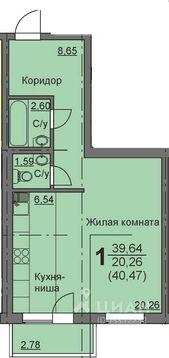 Студия Курганская область, Курган 16-й мкр, 10 (39.4 м) - Фото 1