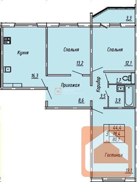 Объявление №61460407: Продаю 3 комн. квартиру. Орел, ул. Космонавтов, 48 1,