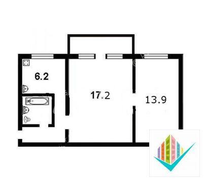 2-комнатная квартира с балконом - Фото 4