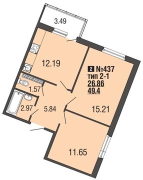 4 096 420 Руб., Продам 2к. квартиру. Вишневая ул. к.5-2, Купить квартиру Мистолово, Всеволожский район по недорогой цене, ID объекта - 319605661 - Фото 1