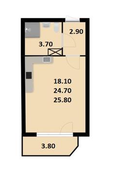Объявление №47812849: Квартира 1 комн. Санкт-Петербург, Кондратьевский пр-кт., 68,