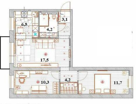 Продажа квартиры, Иркутск, Гагарина б-р. - Фото 3