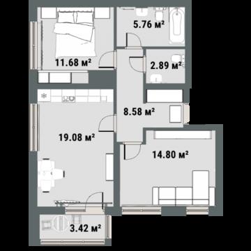 Продажа квартиры, Тюмень, Ул. Газовиков, Купить квартиру в Тюмени по недорогой цене, ID объекта - 308806359 - Фото 1