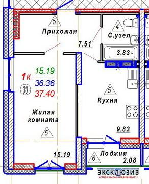 1к квартира возле Бугринского моста - Фото 1