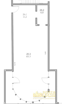 3-комн. кв. 77 м2, этаж 5/5 с видом на море в Ялте - Фото 3