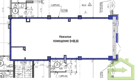 Помещение на первом этаже нового ЖК на Водстрое - Фото 2