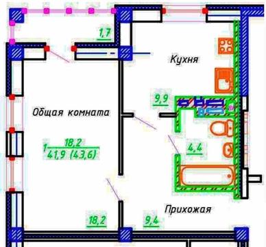 """1-к квартира с отделкой в ЖК """"Эверест"""", г. Кохма - Фото 3"""