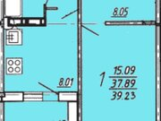 1 714 351 Руб., Продажа однокомнатной квартиры в новостройке на улице Артамонова, 34 в ., Купить квартиру в Воронеже по недорогой цене, ID объекта - 320574535 - Фото 1