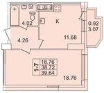 Продам 1к. квартиру. Просвещения пр-кт, д.43 А к.2-18
