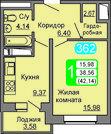 1 980 580 Руб., Квартира в ЖК Весенний, Купить квартиру в новостройке от застройщика в Подольске, ID объекта - 321895234 - Фото 1